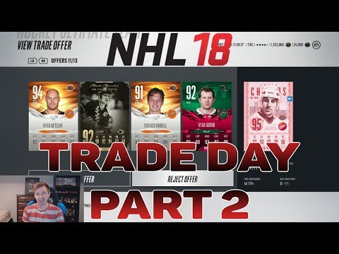 NHL 18 HUT - RUBY CARDS TRADE DAY RESULTS!
