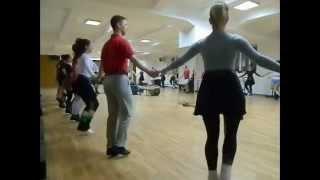 セルビア民族舞踊・練習風景①