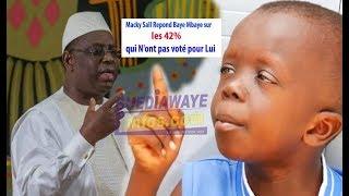 Urgent!Macky Sall Répond Baye Mbaye sur les 42% qui N'ont pas voté pour Lui