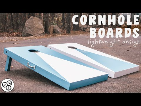 How To Make Cornhole Boards | Lightweight Design | DIY