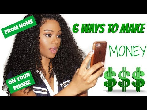 6 WAYS TO MAKE MONEY FROM HOME IN 2018 | ON YOUR PHONE (TRADING, YOUTUBE, FAMEBIT)