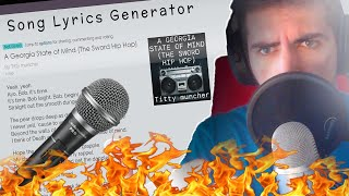 Rapping Using a SONG LYRIC GENERATOR..
