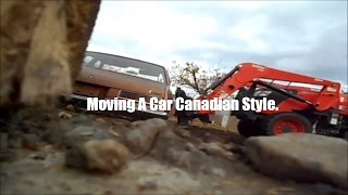 Moving  my other Ventura with kubota loader