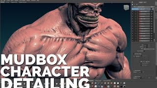 Mudbox High-Res CHARACTER SCULPTING Tutorial Pt 3: Creating Super Detailed Characters
