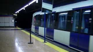 preview picture of video 'Metro de Madrid 9817 por Coslada Central'