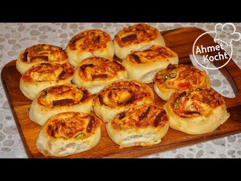 Pizza Rollen mit Sucuk | Ahmet Kocht | kochen | Folge 326
