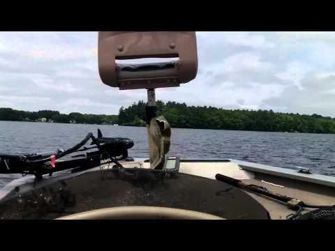 Three Mile Pond New England Bass Fishing.avi