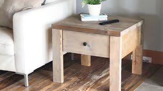 Easy To Build Nightstand Or End Table With Drawer #anawhite