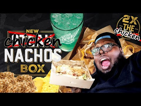 TACO BELL NEW $5 NACHO BOX REVIEW W/ NEW FAST FOOD