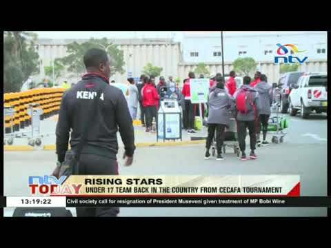 Under 17 Kenyan team back in the country from CECAFA tournament