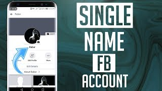 How to Remove Last Name On Facebook 🔥 | How to Make Single Name On Facebook | English