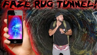 GUAVA JUICE GHOST APP IN THE FAZE RUG TUNNEL! SPENDING THE NIGHT IN THE FAZE RUG TUNNEL!