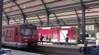 preview picture of video 'Wiesbaden Hauptbahnhof (Main Railway Station), Hesse, Germany - 5th August, 2014'
