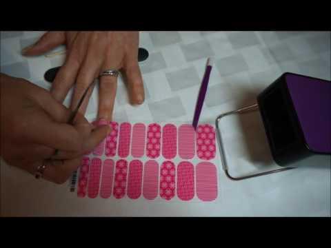 Aplicacion de envolturas (artes de uñas) Jamberry