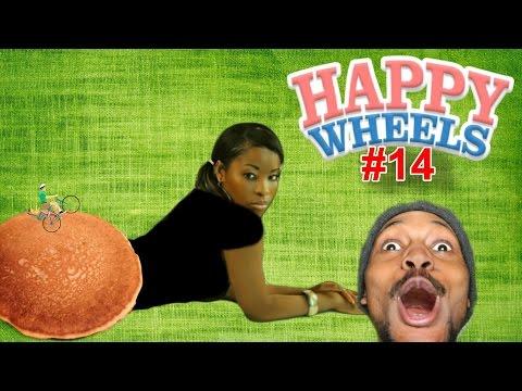 RIDING ON PANCAKES! | Happy Wheels #14