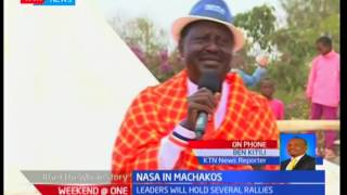 NASA traverse Machakos County as Raila Odinga and Kalonzo Musyoka spearhead campaigns