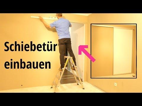 Tür einbauen - Schiebetür einbauen - Montage