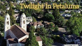 Twilight 4K Drone Over Petaluma Phantom IV Obsidian