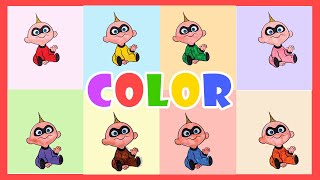 Learn Colors With Incredibiles 2 Baby Jack Jack