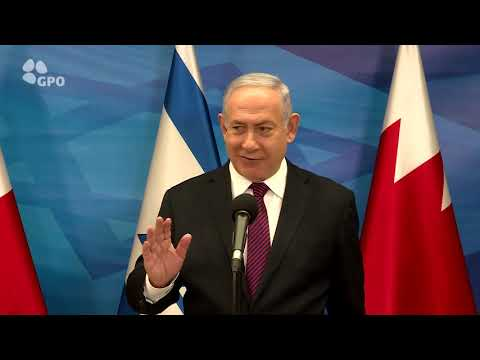 """הפגישות של המשלחת הבחריינית בישראל • צפו ברה""""מ לאחר הפגישה"""