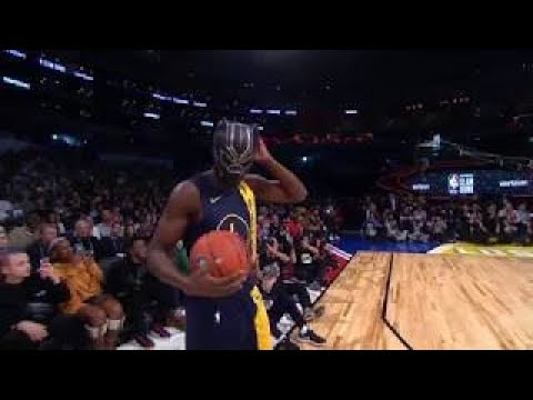 Victor Oladipo Dunk With Black Panther Mask - Slam Dunk Contest | 2018 NBA All-Star February 17 2018