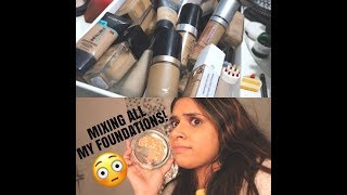 MIXING ALL MY FOUNDATIONS TOGETHER + WEAR TEST | MAUMINA