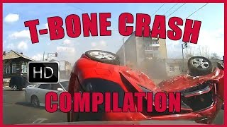 T Bone Crash Compilation - over 17 minutes