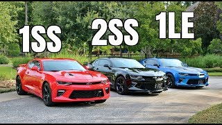 2017 Camaro 1SS vs 2SS vs 1LE