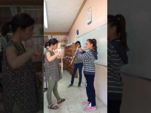 Teaching a tone exercise with language barrier. Guanajuato, Mexico 2016