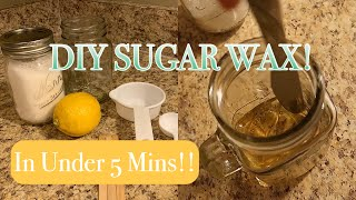 DIY Sugar Wax Using The Microwave | Quick & Easy!