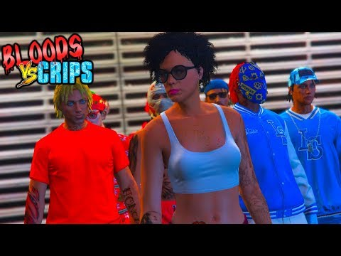 Bloods Vs Crips Gang War Thot Girlfreind 9 Gta5 Skit Capgod 1