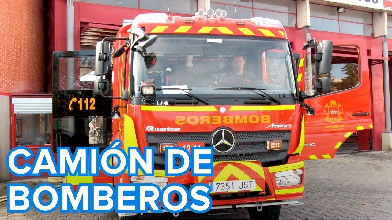 Cómo es un camión de bomberos por dentro | Vídeos para niños