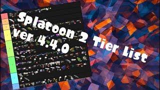 Inkfected Splatoon 2 Weapon Tier List 4 ver 4.4.0