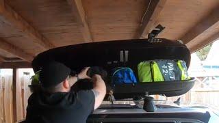 Audi Skibox beladen und sichern Dachbox 300 Liter Schwarz 8V0071200 Audi A3/S3 Sportback Anleitung
