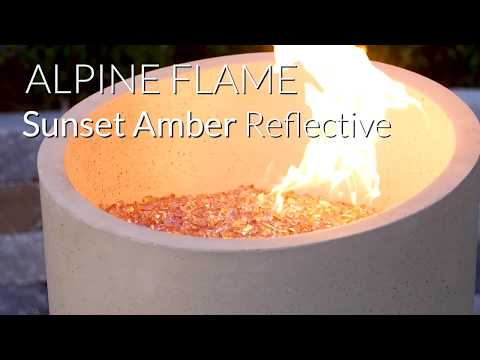 Alpine Flame Sunset Amber Reflective Fire Glass