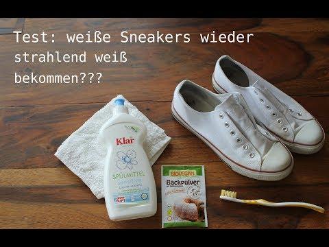Test: weiße Sneakers wieder strahlend weiß bekommen???