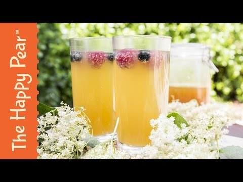 Video Homemade Elderflower Cordial Recipe - The Happy Pear