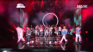4Minute & B2ST - who's next  @ SBS Inkigayo 인기가요 100523