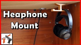 Headphone Mount: GVDV Dual Under Desk Mount  Review (Wooden Headphone Stand)