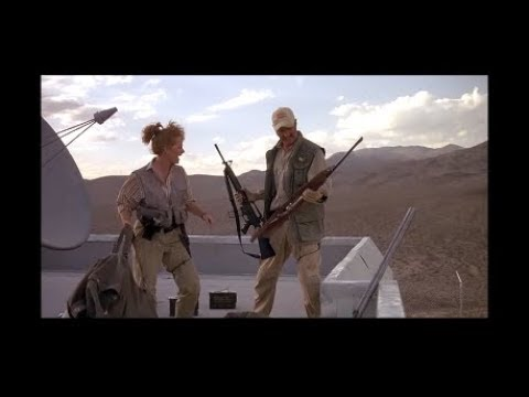 Home Made Pipe Bombs And A Bulldozer Versus Prehistoric Monster - Scene From 1990 Movie Tremors