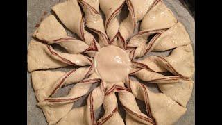 Gwiazda z ciasta francuskiego z nutellą - nutella star bread