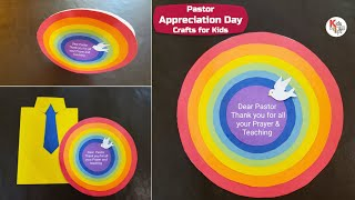 2 Beautiful Greeting Card Craft for kids | Pastor Appreciation Day Crafts for Kids | DIY | 🌈👔