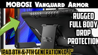 "MOBOSI Vanguard Armor Pro Series iPad 8th Gen Case 2020, iPad 7th Gen 10.2"" 2019 Case"
