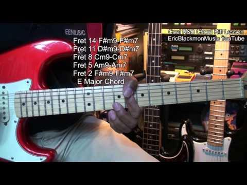 How To Play A Cool Min7-Min9 R&B Chord Progress Riff ON Guitar Lesson E Major EricBlackmonMusicHD