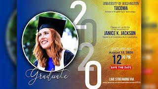 Graduation Invitation Card In Photoshop 2020