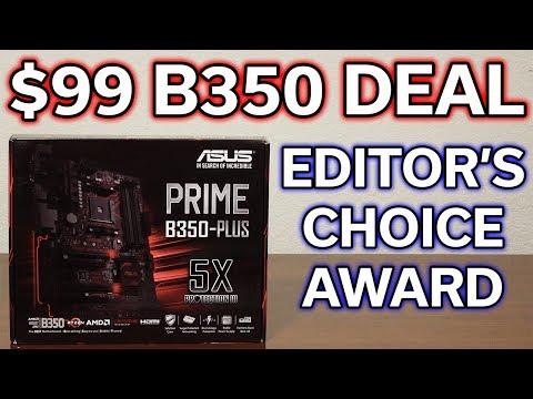 $99 B350 Motherboard DEAL! – ASUS PRIME Plus – Review