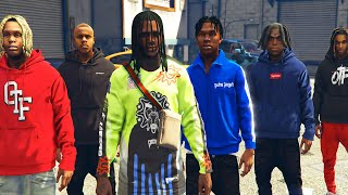 Rapper Life Chief Keef Celebrity Car Meet -  gta 5