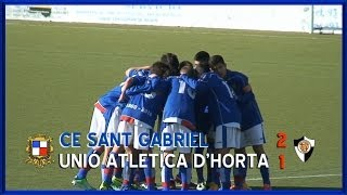 preview picture of video '2013-14 Cadete Preferente - J8 - CE Sant Gabriel-UA Horta 2-1'