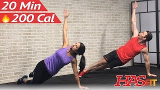 20 Min Advanced Ab Workout for Women & Men - 20 Minute Abs Workout at Home Abdominal Exercises by HASfit