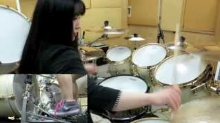 "ARCH ENEMY ""Dark Insanity"" drum cover by Fumie Abe"